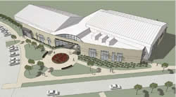 artist rendering of Robert W. Browne Recreation Center, Coldwater