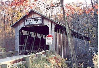 White's Bridge before it was destroyed.