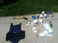 items seized by Indiana State Police in Greencastle drug bust
