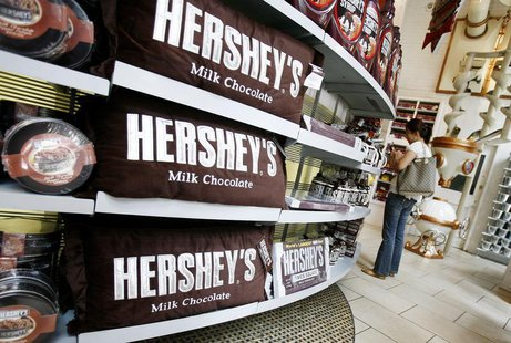 A woman shops inside the Hershey Store in New York June 17, 2008. REUTERS/Shannon Stapleton