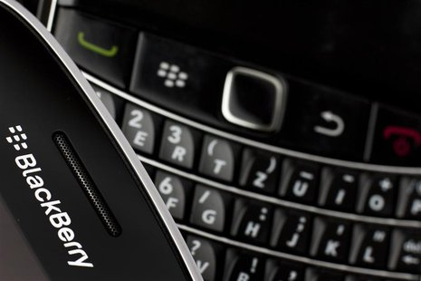Research in Motion (RIM) BlackBerry smartphone handsets are pictured in this illustration picture taken in Lavigny, July 21, 2012. Picture t