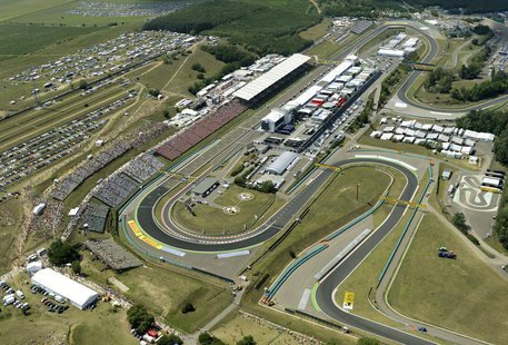 Aerial view of the Formula One Hungaroring circuit at the Hungarian F1 Grand Prix near Budapest July 29, 2012. REUTERS/ Sandor H. Szabo/Hung