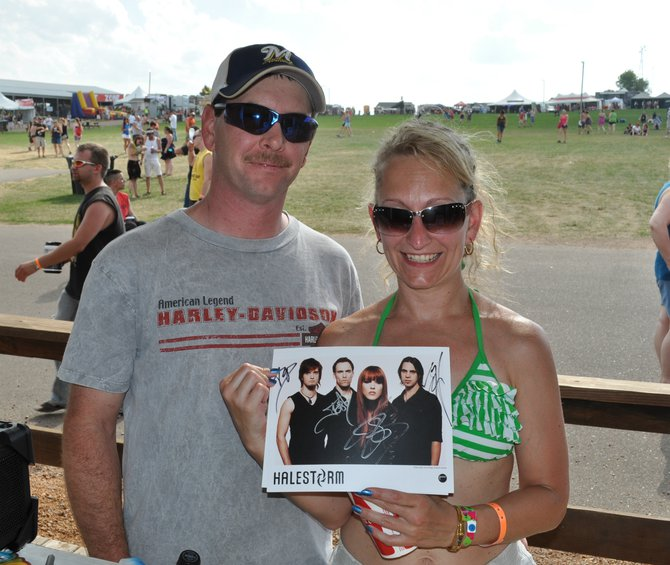 Some of our Halestorm Meet & Greet winners