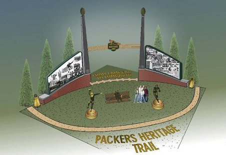 Packers Heritage Trail Recognition Wall