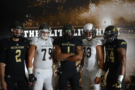 WMU new football uniforms for the 2013 season Photo courtesy from WMU Athletics.