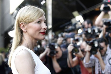 "Cast member Cate Blanchett poses at the premiere of ""Blue Jasmine"" at the Academy of Motion Pictures Arts and Sciences in Beverly Hills, Cal"