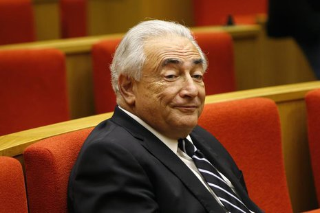 Former International Monetary Fund (IMF) chief Dominique Strauss-Kahn attends a French Senate commission inquiry on the role of banks in tax