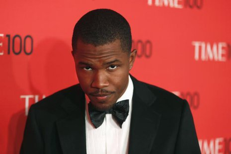 Singer Frank Ocean arrives for the Time 100 gala celebrating the magazine's naming of the 100 most influential people in the world for the p