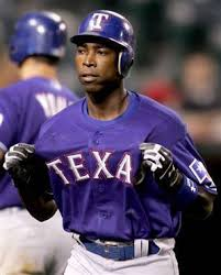 Alfonso Soriano during his short stint with the Texas Rangers.