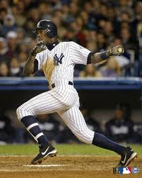 Alfonso Soriano in his younger days as a Yankee.