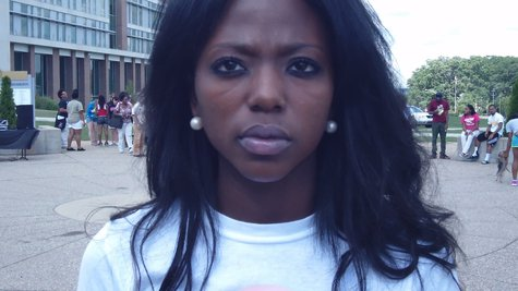 Angela Lawrence was one of the organizers and served as spokesperson for the group.