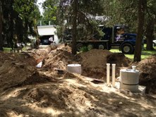 Septic system nearly complete