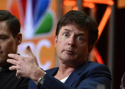 "Executive producer and cast member Michael J. Fox participates in a panel for ""The Michael J. Fox Show"" during the NBC sessions at the Telev"