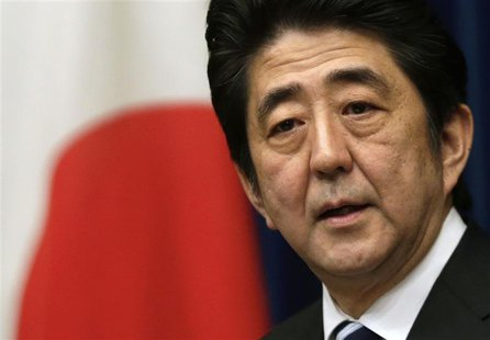 Japan's Prime Minister Shinzo Abe speaks during a news conference at his official residence in Tokyo in this March 15, 2013 file photo. REUT