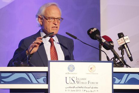 Vice president and director of the Foreign Policy Program at the Brookings Institution in Washington D.C. , Martin Indyk, speaks during the