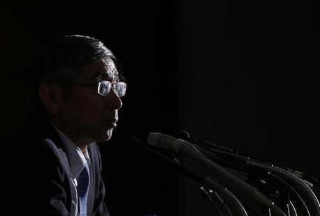Bank of Japan Governor Haruhiko Kuroda speaks at a news conference at the BOJ headquarters in Tokyo July 11, 2013.REUTERS/Toru Hanai