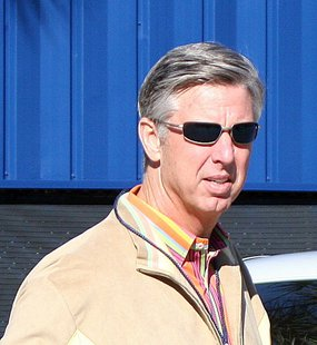 Detroit Tigers President, CEO and General Manager Dave Dombrowski shown in 2011 in a photo by Roger Dewitt.  Courtesy: http://www.flickr.com/photos/hueytaxi/5445641077/