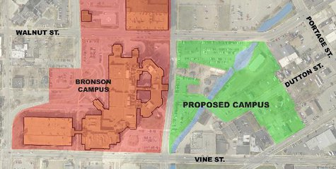 The site is surplus land that Bronson Hospital has no plans to develop beyond parking.