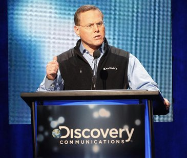David M. Zaslav, President and Chief Executive Officer of Discovery Communications speaks at the Television Critics Association Cable TV Sum