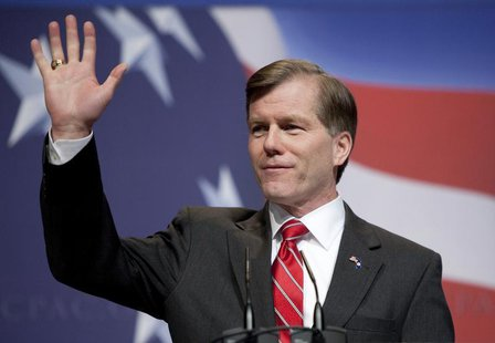 Virginia Governor Bob McDonnell speaks at the Conservative Political Action Conference (CPAC) during their annual meeting in Washington, Feb