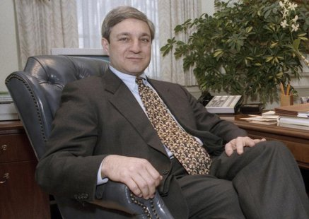 Penn State University ex-President Graham Spanier poses in his office in the Old Main building in State College, Pennsylvania, in this Febru
