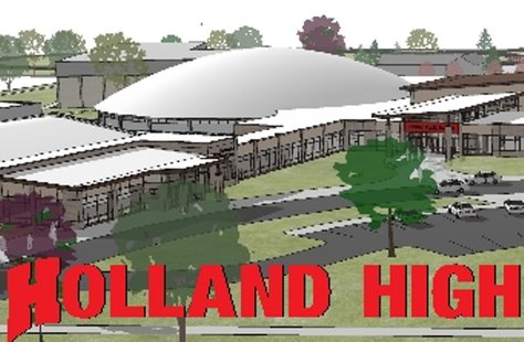 Drawing of Holland High Renovations (courtesy Holland Public Schools)