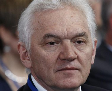 Businessman Gennady Timchenko looks on during his visit to the Russian Geographical Society in St. Petersburg April 10, 2012. REUTERS/Alexan