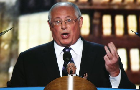 Governor of Illinois, Pat Quinn addresses delegates at the 2012 Democratic National Convention in Charlotte, North Carolina, September 4, 20