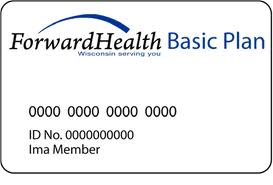 Wisconsin Forward Health card