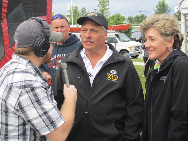 Jon interviewing Chuck Miesfeld and Darla Rodgers.