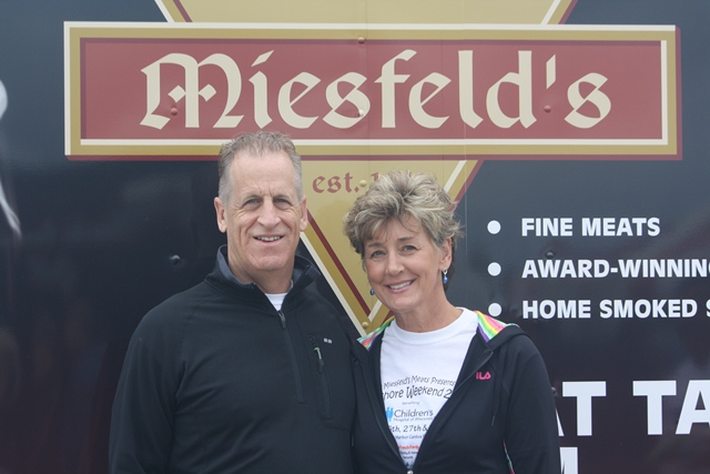 Aaron Rodgers parents Ed and Darla helped out Miesfeld's Lake Shore weekend