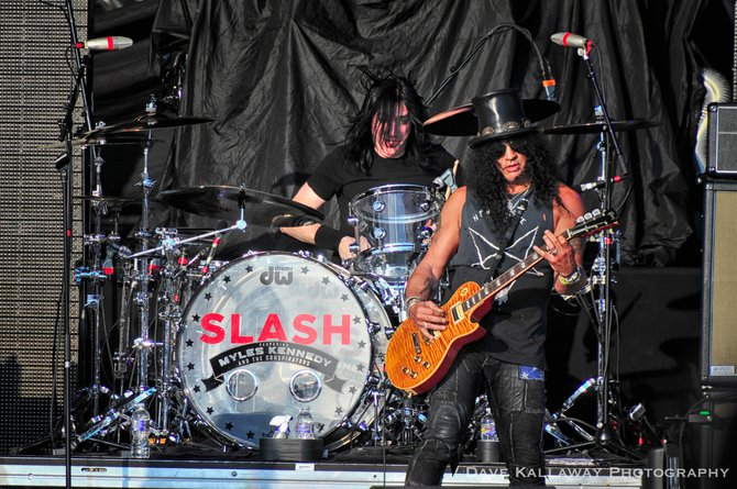 Slash sounded excellent..shredded all afternoon at Rockfest!!