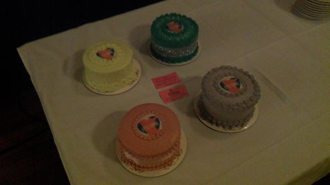 Cakes waiting for the ceremony