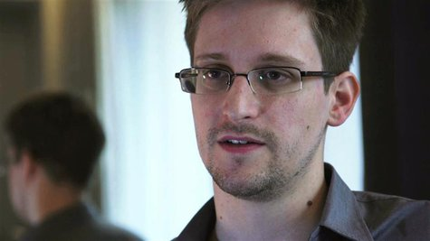 NSA whistleblower Edward Snowden, an analyst with a U.S. defence contractor, is seen in this still image taken from video during an intervie