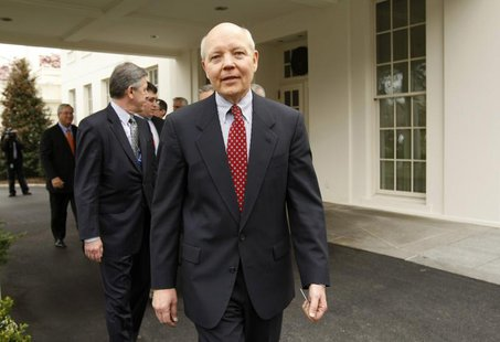 Freddie Mac Chief Executive John Koskinen departs the White House after a meeting about the economy with U.S. President Barack Obama in the