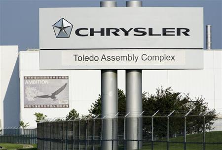 The Chrysler Toledo Assembly Complex has features banners (here Ambition) on the outside of the facility as part of its ''Head, Heart and Hands'' initiative to build community among workers at the plant. The new section of the plant will be used to produce the Jeep Cherokee. Toledo, Ohio July 18, 2013. Credit: Reuters/James Fassinger