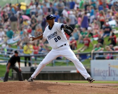 West Michigan Whitecaps RHP Endrys Briceno (photo courtesy West Michigan Whitecaps)