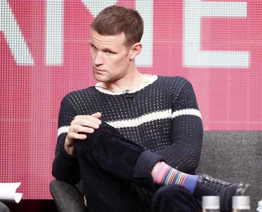 "Actor Matt Smith who plays character Dr. Who on the BBC America cable channel series ""Dr. Who"" takes part in a panel discussion at the Telev"