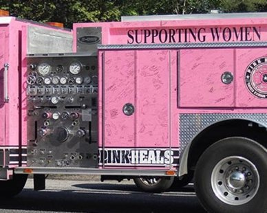 Pink Heals Fire Truck