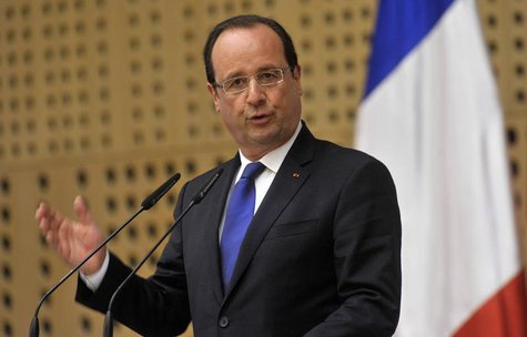 France's President Francois Hollande speaks during a news conference after the leaders meeting of the 'Brdo Process' in Brdo, near Kranj, Ju