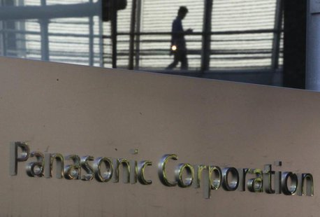 Panasonic Corp's logo is pictured outside the company's showroom in Tokyo November 1, 2012. REUTERS/Yuriko Nakao
