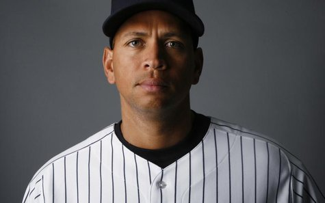 The New York Yankees' Alex Rodriguez poses during the Yankee's Media Day at their spring training facility at George M. Steinbrenner Field i