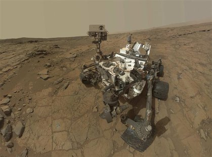 This self-portrait of NASA's Mars Curiosity rover is shown in this NASA handout composite image released May 30, 2013. The NASA rover Curios
