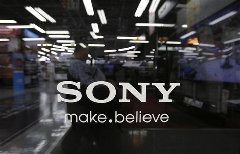 The logo of Sony Corp. is seen at an electronics store in Tokyo May 9, 2013. REUTERS/Toru Hanai