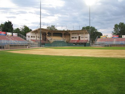 A look at the Athletic Park grandstand and bleachers after the last 2013 Woodchucks home game