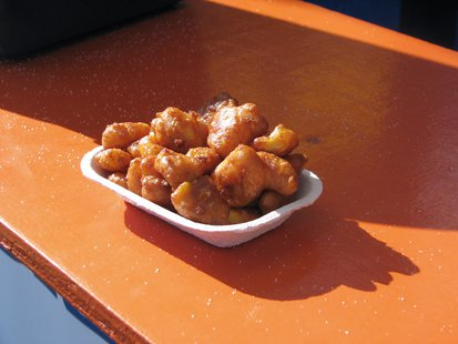 Cheese curds from the Wausau Optimists tent at the Wisconsin Valley Fair