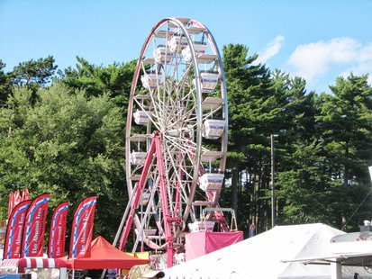 The Ferris Wheel on the midway at the Wisconsin Valley Fair