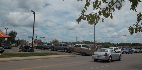 Lunch lines at Marshfield McDonald's often extend into the nearby street.  The new facility will be able to keep twice as many cars in line before spilling over to the street.