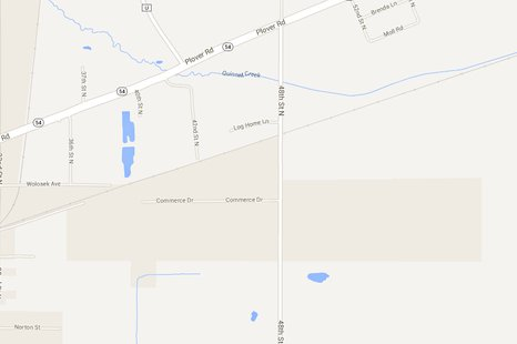 Search area in Wisconsin Rapids for high speed chase suspect.  Map courtesy Google.