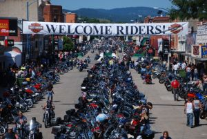 The Sturgis Motorcycle Rally require bikers and drivers to share the road for safety.  Sturgis.SD.Gov